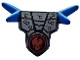 Part No: 93056pb02  Name: Minifigure, Armor Breastplate with Shoulder Spikes Blue and Ninjago Cracked Red Skull Pattern