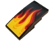 Part No: 93606pb098  Name: Slope, Curved 4 x 2 with Yellow, Orange and Red Flames Pattern (Sticker) - Set 70667