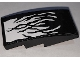 Part No: 93606pb120  Name: Slope, Curved 4 x 2 with Black Tendrils on White Background Pattern (Sticker) - Set 76151