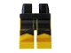 Part No: 970c03pb35  Name: Hips and Yellow Legs with Black Scalloped Panels Pattern