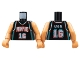 Part No: 973bpb136c01  Name: Torso NBA Memphis Grizzlies #16 Pattern / Nougat NBA Arms / Nougat Hands