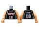 Part No: 973bpb136c01  Name: Torso NBA Memphis Grizzlies #16 Pattern / Flesh NBA Arms