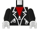 Part No: 973p28c02  Name: Torso Leather Jacket Pattern / Black Arms / White Hands