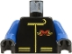 Part No: 973p8ac04  Name: Torso Extreme Team Jacket with Red X Logo on Back Pattern / Blue Arms / Black Hands