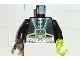 Part No: 973pb0020c01  Name: Torso Aquazone Aquaraider Gold & Silver Straps, Control Box Pattern / Black Arms / Black Hand Right / Trans-Neon Green Hook Left