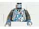 Part No: 973pb0199c01  Name: Torso Space Insectoids Blue X with Hose on Sides Pattern / Dark Gray Arms / Blue Hands