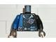 Part No: 973pb0220c01  Name: Torso Alpha Team Logo, Utility Belt w/ Gauge, Solid Blue Stripe Pattern / Black Arm Left / Blue Arm Right / Black Hands