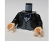 Part No: 973pb0225c01  Name: Torso Batman Suit Jacket with Gray Vest, Dark Blue Bow Tie Pattern / Black Arms / Light Nougat Hands