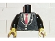 Part No: 973pb0241c01  Name: Torso Suit with Two Buttons and Red Tie Pattern (Sticker) / Black Arms / Yellow Hands