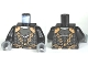 Lot ID: 202697168  Part No: 973pb0692c01  Name: Torso Castle Kingdoms Scale Mail, Copper Shoulder Armor and Chains Front and Back Pattern / Black Arms / Dark Bluish Gray Hands