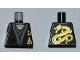 Part No: 973pb0926  Name: Torso Ninjago Gold Asian Characters Front and Dragon Back Pattern