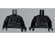 Part No: 973pb0969c01  Name: Torso SW Layered Shirt, Waist Sash with Pocket Pattern / Black Arms / Black Hands