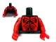 Part No: 973pb1127c01  Name: Torso SW Darth Maul Chest Pattern / Printed Red Arms / Red Hands