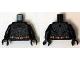 Part No: 973pb1884c01  Name: Torso Batman Logo with Body Armor Outline and Copper Belt Pattern / Black Arms / Black Hands