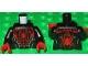 Part No: 973pb2165c01  Name: Torso Spider-Man Costume 5 Pattern (Miles Morales) / Black Arms / Red Hands