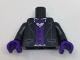 Part No: 973pb2580c01  Name: Torso Tuxedo Jacket, White Shirt, Dark Purple Bow Tie and Vest Pattern / Black Arms / Dark Purple Hands