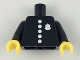 Part No: 973pb3094c01  Name: Torso Police with Classic Badge and 5 Buttons Pattern / Black Arms / Yellow Hands