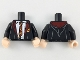 Part No: 973pb3244c01  Name: Torso Hogwarts Robe over White Shirt, Dark Red and Bright Light Orange Rumpled Tie and Trim Pattern / Black Arms / Light Nougat Hands