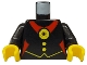 Part No: 973px35c01  Name: Torso Castle Fright Knights Red Spider Medal Pattern / Black Arms / Yellow Hands