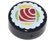 Part No: 98138pb077  Name: Tile, Round 1 x 1 with Sushi Tuna Maki Roll Pattern