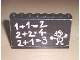 Part No: BA016pb01  Name: Stickered Assembly 8 x 1 x 5 with Classroom Blackboard and 1+1=2 Pattern (Sticker) - Set 291 - 5 Brick 1 x 8