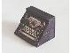 Part No: BA031pb01  Name: Stickered Assembly 4 x 3 x 2 1/3 with Typewriter Pattern (Sticker) - Set 295 - 2 Slope 45 2 x 4, 1 Brick 1 x 4, 2 Tile 1 x 2