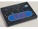Part No: BA148pb01  Name: Stickered Assembly 3 x 4 with 'I.S.S.' Logo on Space and Earth Background Pattern (Sticker) - Set 7467 - 2 Tiles 2 x 2, 1 Tile 1 x 4