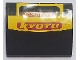 Part No: BA166pb02  Name: Stickered Assembly 4 x 3 x 1 with 'OXIDE' and 'KYOTO' on Yellow Background Pattern (Sticker) - Set 8666 - 4 Slope, Curved 3 x 1