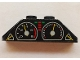 Part No: BA216pb01  Name: Stickered Assembly 4 x 1 x 1 with Gauges Tachometer and Speedometer Pattern (Sticker) - Set 8880 - 2 Slope 45 2 x 1