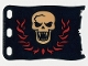Part No: bb0511pb01  Name: Plastic Flag 8 x 5 with White Skull with Fangs and Red Flames Pattern