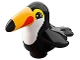Part No: bb0917pb02  Name: Duplo Bird Toucan with White Chest and Bright Light Orange Beak Pattern