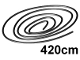 Part No: x77ac420  Name: String, Cord Thin  420cm