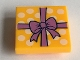 Part No: 11203pb012  Name: Tile, Modified 2 x 2 Inverted with Gift Wrap Medium Lavender Bow and White Dots Pattern