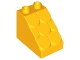 Part No: 15580  Name: Duplo, Brick 3 x 2 x 2 Slope Shingled