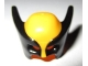 Part No: 17018pb01  Name: Minifigure, Headgear Mask Wolverine with Black Pointed Sides Pattern