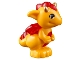 Part No: 26090pb03  Name: Dragon, Elves, Baby with Trans-Red Stomach, Spines and Wings and Gold Horns Pattern (Spark)