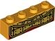 Part No: 3010pb299  Name: Brick 1 x 4 with Gold Breastplate Pattern (BrickHeadz Monkey King Chest)