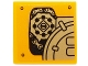 Part No: 3068bpb0940L  Name: Tile 2 x 2 with Groove with Mechanical Gears and Chains Pattern Model Left Side (Sticker) - Set 70227