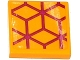 Part No: 3068bpb0983  Name: Tile 2 x 2 with Groove with Magenta Diamond Cube Geometric Pattern (Sticker) - Set 41135