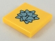 Part No: 3068bpb1147  Name: Tile 2 x 2 with Groove with Metallic Blue Gift Bow Pattern