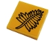 Part No: 3068bpb1680  Name: Tile 2 x 2 with Groove with Black Fern Plant Leaves Pattern (Sticker) - Set 76384