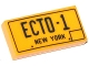 Part No: 3069bpb0312  Name: Tile 1 x 2 with Groove with 'ECTO-1' and 'NEW YORK' Pattern