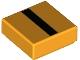 Part No: 3070bpb217  Name: Tile 1 x 1 with Groove with Black Stripe Pattern (BrickHeadz Minion Jumpsuit Sleeve)