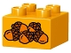 Part No: 3437pb073  Name: Duplo, Brick 2 x 2 with 5 Acorns Pattern