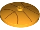 Part No: 3960pb060  Name: Dish 4 x 4 Inverted (Radar) with Solid Stud with Orange Basketball Lines Pattern
