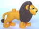 Part No: 4325c01pb01  Name: Duplo Lion Adult Male Second Version with Immobile Head