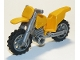 Part No: 50860c07  Name: Motorcycle Dirt Bike with Flat Silver Chassis and Flat Silver Wheels