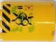 Part No: 6259pb041R  Name: Cylinder Half 2 x 4 x 4 with Caution Triangle, Danger Stripes, Black Biohazard Symbol, Ooze and Vents Pattern Model Right Side (Sticker) - Set 70163