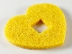 Part No: 66828  Name: Felt Fabric 5 x 4 Heart Thick with Square Hole