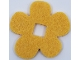 Part No: 66830  Name: Felt Fabric 5 1/2 x 5 1/2 Flower Thick with Square Hole